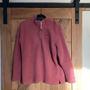 PINK by Victoria secret mauve Sherpa quarter zip